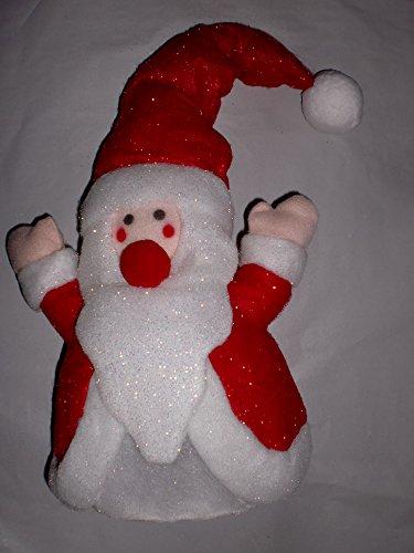 Beleuchteter Weihnachtsmann Kabellos LED-Leuchtfigur Dekorative Weihnachtsfigur mit Beleuchtung incl. Batterien