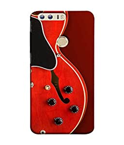 FUSON Designer Back Case Cover for Huawei Honor 8 (Close Up Of Electric Guitar Leaning On Amplifier )
