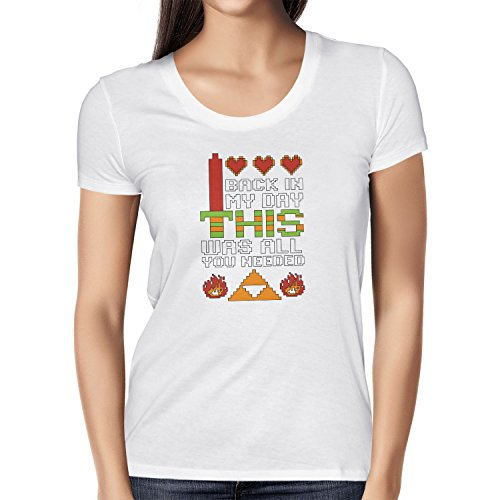 NERDO - Back in my Day this was all you needed - Damen T-Shirt Weiß
