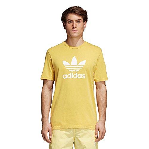 Adidas trefoil, t-shirt uomo, tribe yellow, m