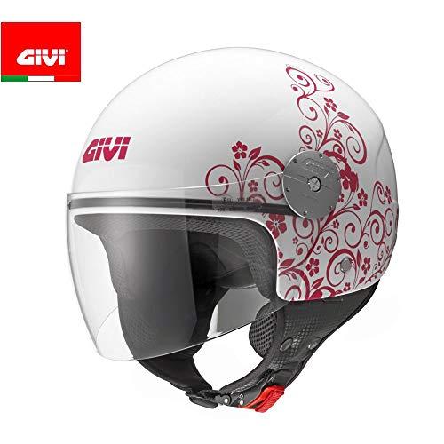 GIVI Casco Jet HPS 10.7-Mini fiori grafica, Ros