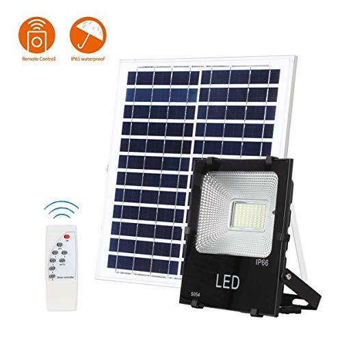 Solar Fluter 100 Watt Outdoor wasserdichte IP65 6000 Lumen Sicherheitslicht mit Fernbedienung Sensing Auto On/Off Solar Lichter für Hof Gartenrinne Schwimmbad Basketballplatz Arena -