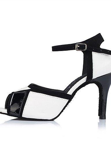 ShangYi Chaussures de danse(Multicolore) -Personnalisables-Talon Personnalisé-Similicuir-Latine / Jazz / Salsa / Samba / Chaussures de Swing black and white