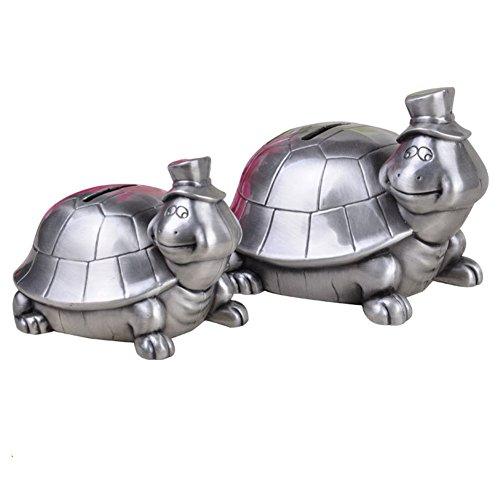 QQA 1PC Schildkröte Sparschwein Metall Münze Kann Spielzeug Geschenke Geburtstag Für Kinder Spardose Ornamente,13X11.3X9.5CM -