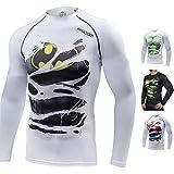 Khroom T-Shirt de Compression de Super-héros pour Homme   Vêtement Sportif à Séchage Rapide pour Fitness, Gym, Course, Musculation   Matériel Extensible et Ventilé Anti Transpiration (Batman, XL)...