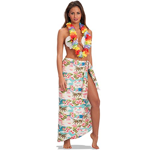 Carnival Toys - Pareo Hawái en bolsa,100 cm, multicolor (1407)
