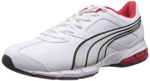 Puma Men's Tazon 5 White, Silver and High Risk Red Running Shoes - 11 UK /India(46EU)  available at amazon for Rs.1701