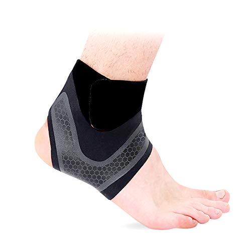 Hually Fußbandage, (1 Paar) sprunggelenkbandage für Damen und Herren, Linke und rechte Füße, Unterstützt alle Größen, Knöchelbandage stützt den Fuß beim Sport wie Handball, Fußball, Volleyball