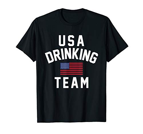 Beer Drinking T-shirt (Patriotic Beer Party USA Drinking Team  T-Shirt)