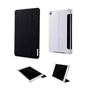 Alienwork Case for iPad Mini 1/2/3 Stand Folio Cover Sleeve Ultra-thin Faux leather black ADM09-01