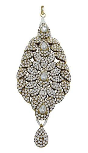 raditionelle indische Haar-Accessoire Hochzeit passa Kopfbedeckung Schmuck (Indische Haar Accessoires)