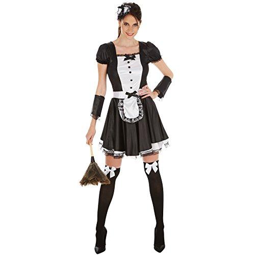 dressforfun Frauenkostüm sexy Dienstmädchen | Super verführerisches Kleid | Zaubert ein traumhaftes Dekolleté | inkl. Haarreif, Strümpfe und Armstulpen (XXL | no. 301064) (Dienstmädchen Kleid Kostüm)
