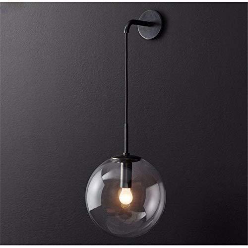 Nordic Moderno Lámpara de pared LED Bola de cristal Espejo del baño al lado de la pared Retro Americana...