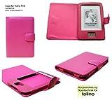 STCase–Echtleder Tasche für eBook Reader Tolino Shine, aus echtem Leder, Farbe: rosa/pink