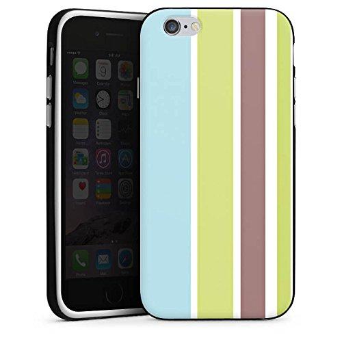 Apple iPhone 5s Housse Étui Protection Coque Bandes Pastel Années 90 Housse en silicone noir / blanc