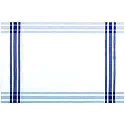 Novastyl 2211058 - Lote de 12 manteles individuales (plástico, 45 x 30 x 0,5 cm), diseño a rayas, color azul