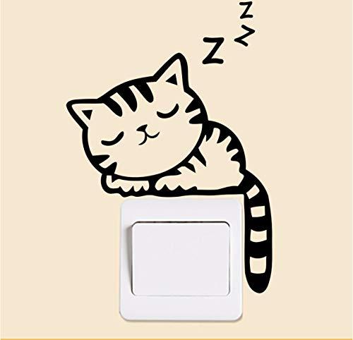 Gatto Piccolo (Xbwy Bella Carino Piccolo Gatto Interruttore AdesiviDecorazione Della Parete Della Casa Decalcomanie Murale Art Poster In Vinile)