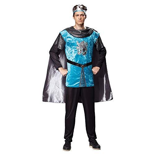 Prinz Männer Kostüm - Bristol Novelty AC512 Königlicher Ritter Kostüm, Mehrfarbig, 42-44-Inch