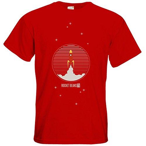getshirts - Rocket Beans TV Official Merchandising - T-Shirt - Rakete Red