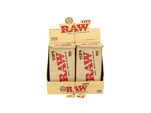 RAW - PRE-ROLLED TIPS - Display 6 Boxen -