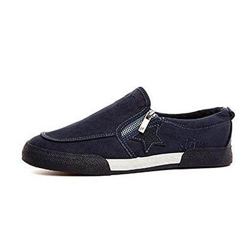 MM Mode Ventilation décontracté Toile Chaussures bleu