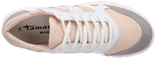 Tamaris - 23626, Sneaker basse Donna Multicolore (Mehrfarbig (Rose/Grey 523))