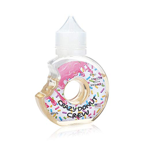8634ad00f08 Crazy Donut Crew E Liquid 50ml Vape Juice King of Donuts Shortfill American  Dessert Flavours 0mg No Nicotine Liquid 80 20 High Vg Sub Ohm EJuice Refill  ...
