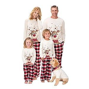 SCU-SS Pijamas Navidad Familia Conjunto Pantalon Y Top Ropa Dormir Trajes para Adultos Niños (Color : Kid(10T)) 10