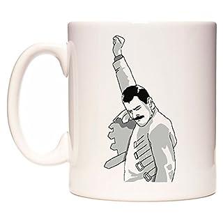 Freddy Mercury, The Greatest '– Fun Neuheit Tasse 313ml Keramik Kaffee Tee Becher von acen Studios–Perfekt Valentines/Ostern/Sommer/Weihnachten/Geburtstag/Jahrestag Geschenk