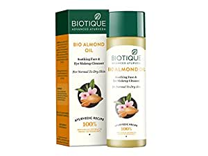 Biotique Bio Almond Oil Soothing Face And Eye Makeup Cleanser, 120ml