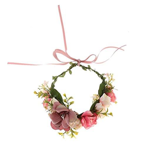 OULII Blumenkranz Blumenkrone Boho für Festival Hochzeit
