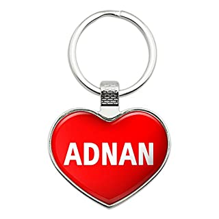 Graphics and More Metal Keychain Key Chain Ring I Love Heart Names Male A Aaro - Adnan