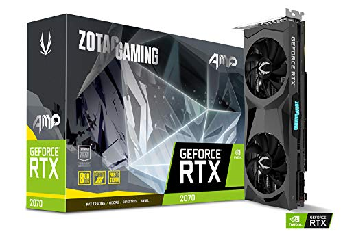 Zotac Gaming GeForce RTX 2070 AMP 8GB GDDR6 256-bit Spectra RGB LED Metal Backplate Graphics Card