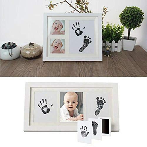 Baby-Handabdruck- und Fußabdruck-Fotorahmen-Kit für neugeborene Jungen und Mädchen, druckt Papier und Clean Touch Ink Pad, um Baby-Hand- und Fußabdrücke zu erstellen - Ink-pad-kit