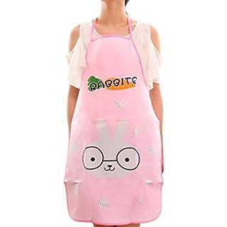 Kongnijiwa Cute Panda Kitchen Bib Apron – Women or Children Waterproof Cartoon Chef Aprons for Cooking (20