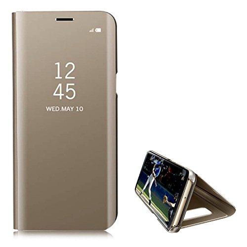 Hancda Schutzhülle für Xiaomi Mi A1, Spiegel Handyhülle Mirror Flip Case Bookstyle Leder Cover Standfunktion Hüllen
