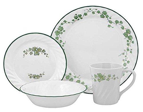 corelle-service-de-vaisselle-pour-4-personnes-16-pices-en-verre-vitrelle-motif-callaway-vert