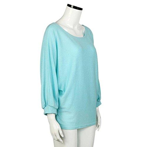 RonamickFrauen Mode Beiläufig übergroße Batwing gestrickte Pullover lose Pullover (grün, XL) -