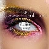 Color blanco o lentes de contacto Mesh 80521 () 2 unidades