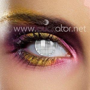 Preisvergleich Produktbild Edit 90Tage Farbige Kontaktlinsen–ohne Stärke (Netz weiß)