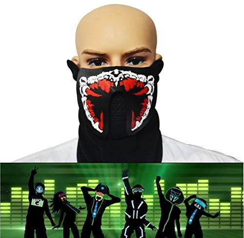 (WSK LED Light up Maske Sound Aktiviert Lichtmaske - Maske für Party, Halloween Carnival Carnival Club)