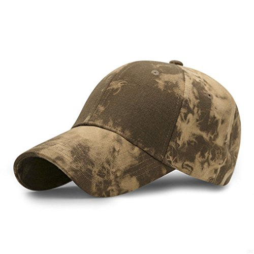 GADIEMKENSD Sport Hat Breathable Outdoor Run Cap camouflage Baseball cap Shadow Structured hat (camo Yellow) (Womens Life Is Good Hat)