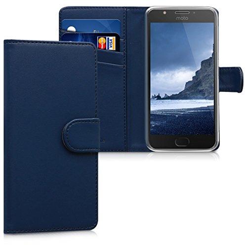 kwmobile Motorola Moto E4 Hülle - Kunstleder Wallet Case für Motorola Moto E4 mit Kartenfächern und Stand