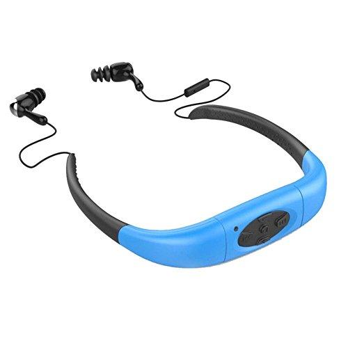 Headset von Chinatera für Sport-Stereo-MP3-Player, mit FM-Radio, wasserdicht, für Schwimmen, Surfen, Laufen.
