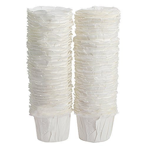 BELR Einweg Filter Papier K Karaffe Filter Cups K Karaffe, kompatibel, (100Filter) (weiß) Weiß3 (Einweg-k-cup-filter)