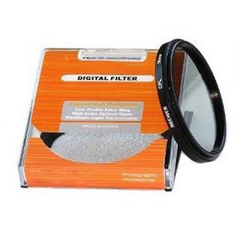 TOOGOO(R) 58mm Circular Polfilter (CPL) Zirkular Polfilter Filter fuer Kodak, Nikon, Canon und jede Kamera mit einem 58mm Filtergewinde