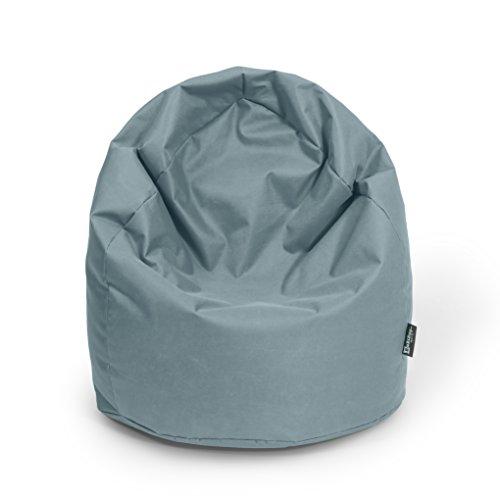 BuBiBag Sitzsack Tropfenform Beanbag Sitzkissen für in & Outdoor XL 300 Liter bis XXXL 470L mit Styropor Füllung in 23 Versch. Farben (XL, Anthrazit)
