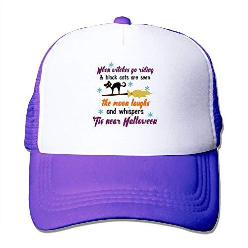 Go Riding Halloween Poem Classic Adjustable Mesh Trucker Hat Unisex Adult Baseball Cap ()