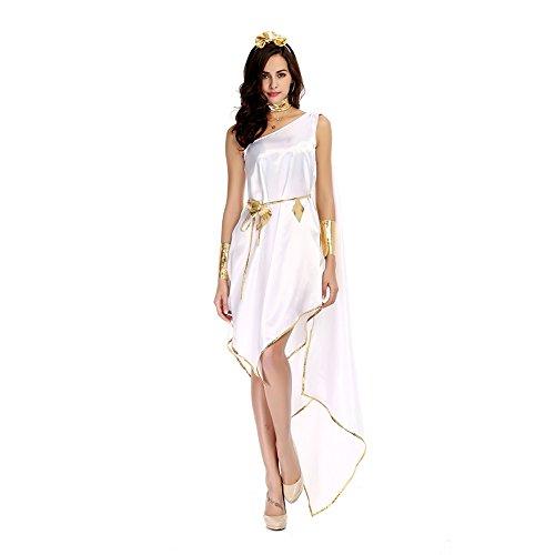 Weißes Kleid Sexy Elegant Fasching Halloween Kostüm Cosplay Damen ()