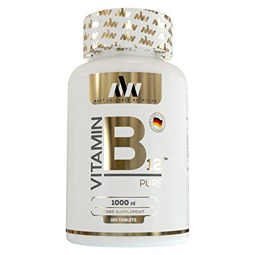 MVN® Vitamin B12   Hochdosiert mit 1000 µg   Methylcobalamin   6-Monats-Vorrat   Made in Germany   180 Tabletten (Made Vitamin B12 Nature)